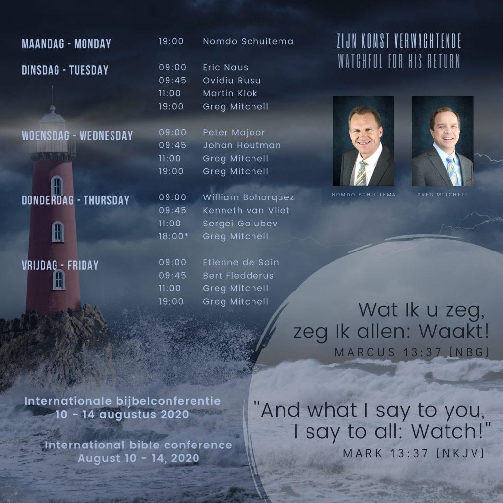 Bijbelconferentie De Deur zomer 2020